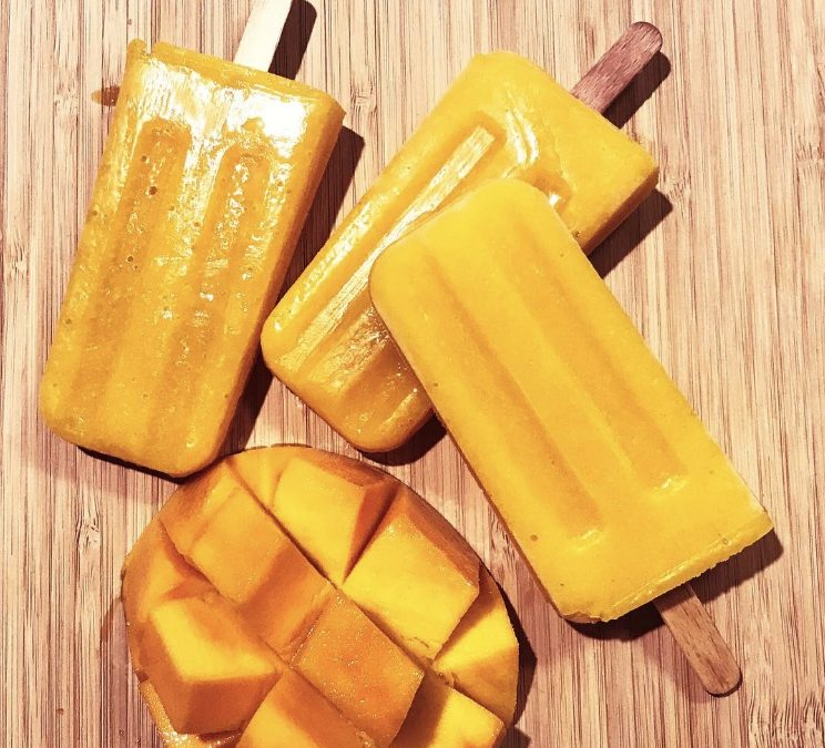 Zingy Fermented Mango Pops
