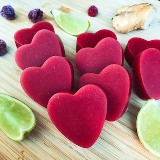 Raspberry, lime & ginger Gummies