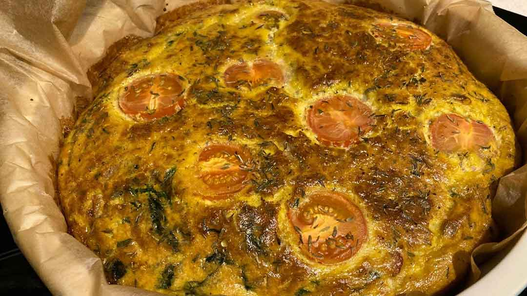 Bacon and herb frittata