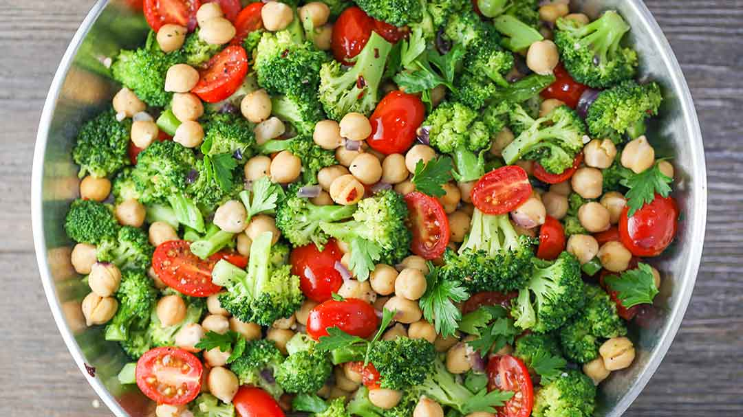 Chickpea, Tomato, and Broccoli Stir Fry